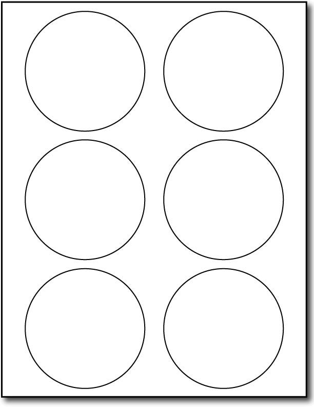 image about Round Labels Printable titled 6up 3 1/3