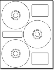 "Adhesive 3-Up Neato Style CD Labels, measure (4.5"" Round) , compatible  with inkjet and laser, matte both sides"