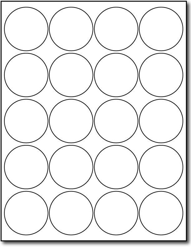 graphic about Round Printable Labels titled 2