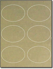"Adhesive Oval Inkjet Gold Foil , size A6, measure (3 7/8"" x 2 3/4"") , compatible with inkjet , Matte Both Sides"