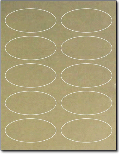"Adhesive  Labels Gold Foil, size A6, measure (1 3/4"" x 3 3/4"") , compatible  Laser, Foil"