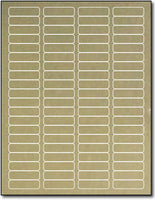 "Adhesive  Labels Gold Foil Return, size A6, measure (1 3/4"" x 1/2"") , compatible  Laser, Foil"