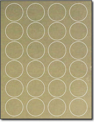 "Adhesive  Labels Gold Foil, measure (1 5/8"" Round) , compatible  Laser, Foil"
