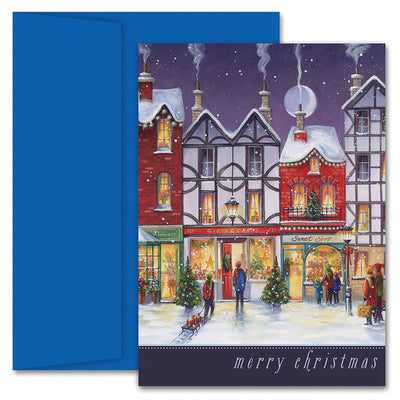 Main Street Christmas Boxed Holiday Cards & Envelopes