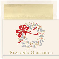 Classic Wreath Boxed Hliday Cards - 16 Cards & Envelopes