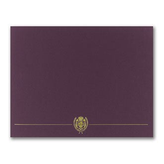 "80 lb Plum Classic Crest Certificate Cover, measure(12"" x 9 3/8""), compatible with inkjet and laser"
