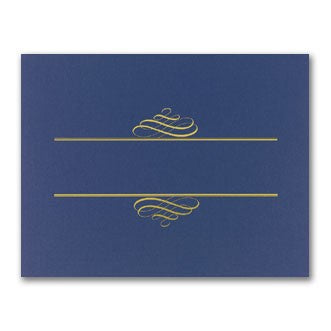 "80 lb Navy Value Certificate Cover, measure(12"" x 9 3/8""), compatible with inkjet and laser"