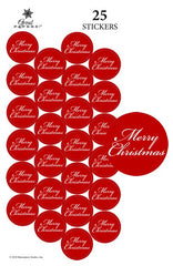 Merry Christmas Seals- perfect for Holiday Greetings, Letterhead, & Invitations