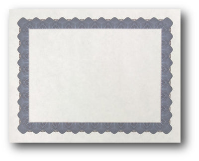 "24lb Blue Parchment Certificate ,  measure (8 1/2"" x 11"") , compatible with inkjet and laser"