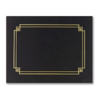 "80lb Black Linen Certificate Cover ,  measure (8 1/2"" x 11"") , compatible with inkjet and laser"