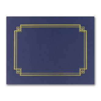 "80lb Navy Linen Certificate Cover ,  measure (8 1/2"" x 11"")"