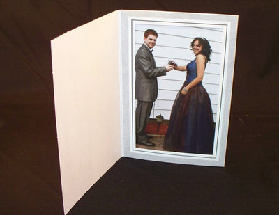 "Grey Photo frames , measure ( 4 1/4"" x 6 1/4"") , compatible  with Inkjet and laser, Matte Both sides"