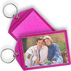 "Sparkle Key Chain, 2"" x 3"" Hot Pink"