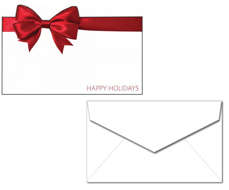 Holiday Cards with Envelope - Big Red Bow