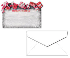 Holiday Letterhead with Envelopes - Christmas Presents