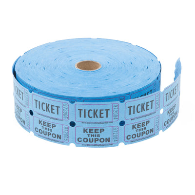 Blue Raffle Tickets -&nbspNumbered Pieces - Twin Ticket Attached