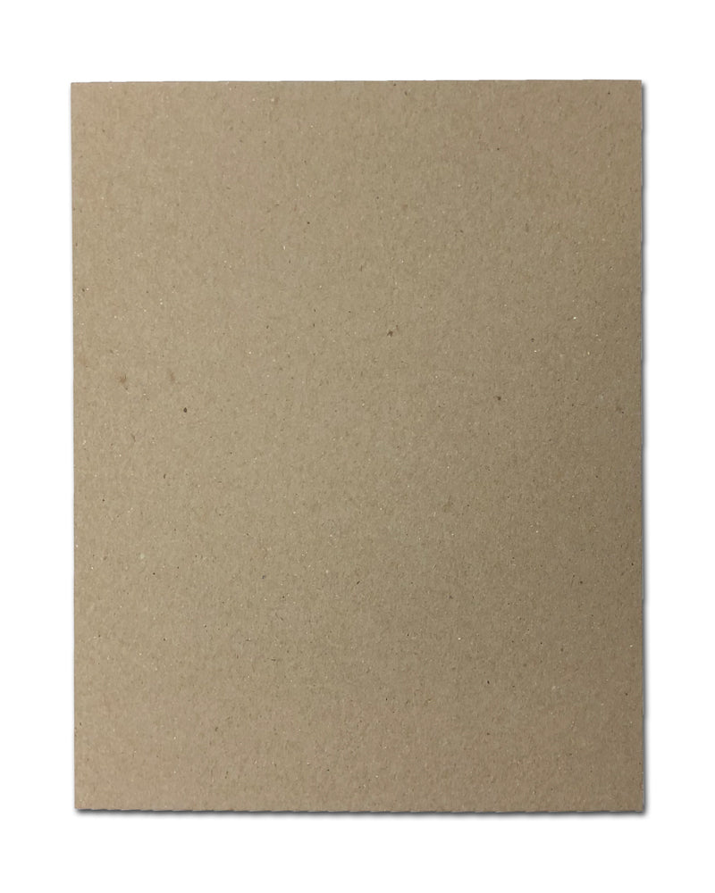 "30pt 8 1/2"" x 11"" Brown Kraft Cardboard Chipboard"