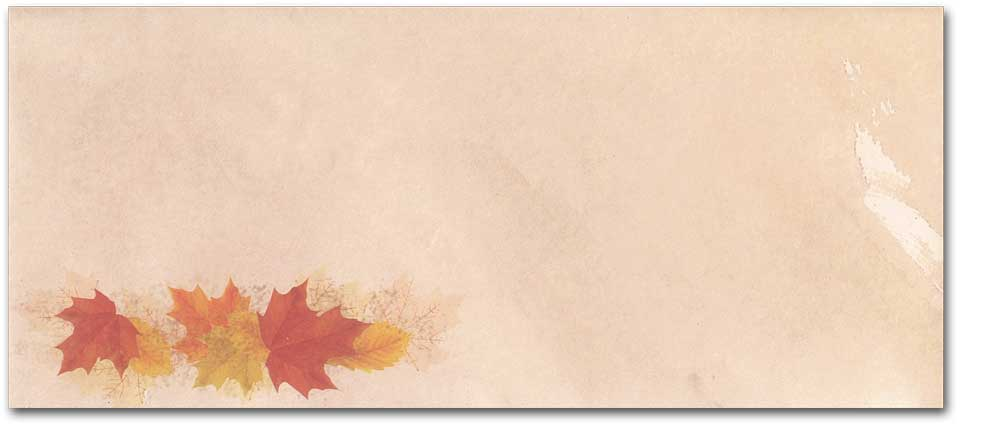 Simple Fall Leaves #10 Envelopes - 500 Envelopes