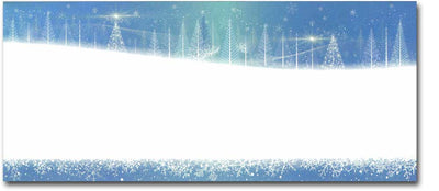 Icy Blue Trees Holiday #10 Envelopes