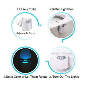 16-color LED Toilet Night Light