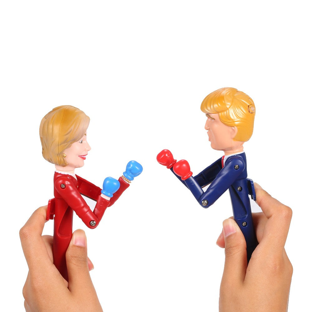 Donald Trump / Hillary Clinton Animated Talking Boxing Pen