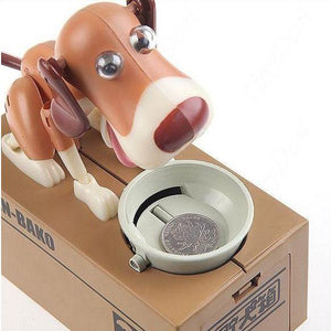 Automated Dog Eating Coin Bank