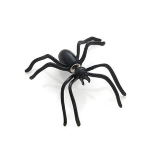 Black Spider Stud Earrings-Give Crazy