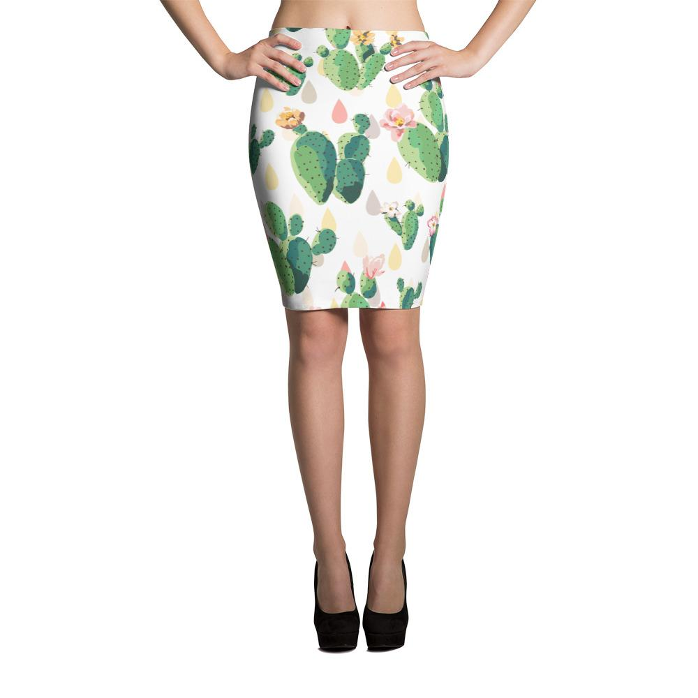 Cactus Pencil Skirt-Give Crazy