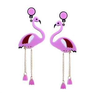 Flamingo Dangling Earrings-Give Crazy