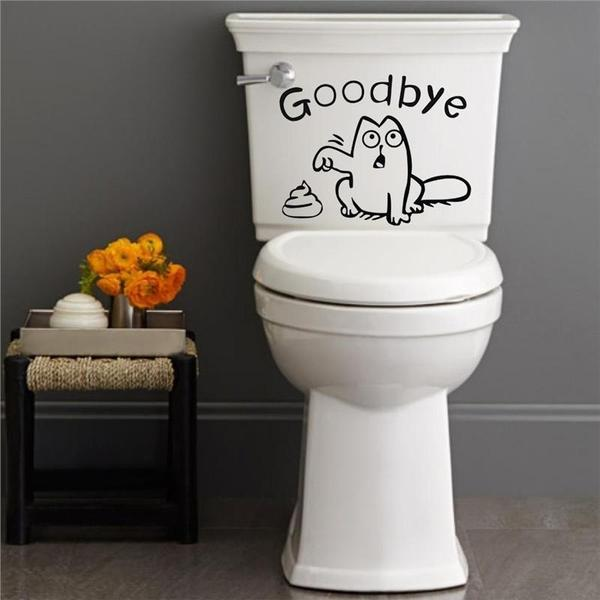 'Goodbye' Cat Toilet Seat Sticker