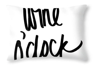 Wine O'clock Throw Pillow