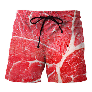 Raw Meat Swimsuit Beach Shorts