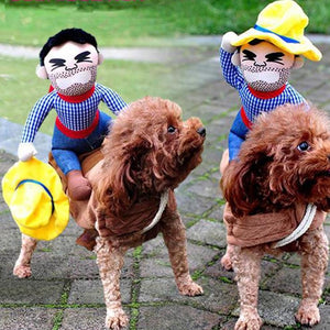 Riding Cowboy Dog Costume-Give Crazy