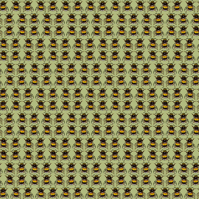 Bees with Green Background