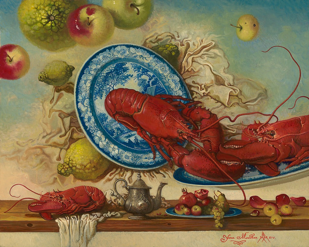 Lobster and Shells with Nova Scotia Tartan