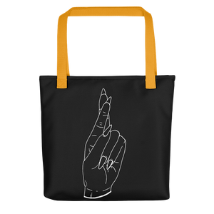 Secrets (White Outline) Tote bag