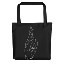 Load image into Gallery viewer, Secrets (White Outline) Tote bag