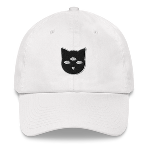 Witchy Cat Embroidered Dad Hat