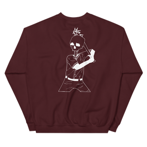 Batter Up Unisex Sweatshirt Front and Back Print