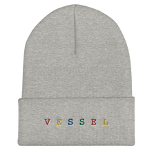 Load image into Gallery viewer, Rainbow Embroidered Cuffed Beanie