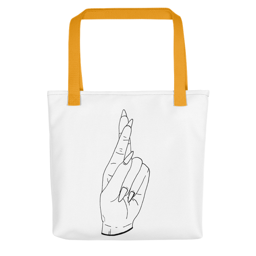Secrets (Black Outline) Tote bag