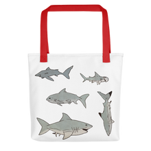 Load image into Gallery viewer, Shark Print Tote bag