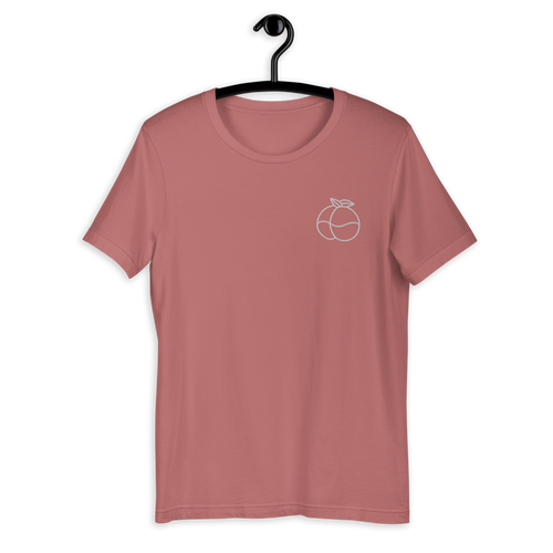 Peach Embroidered Unisex T-Shirt