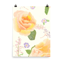 Load image into Gallery viewer, Apricot Roses Matte Print