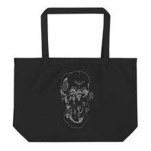 Load image into Gallery viewer, Exploded Skull Large Organic Tote Bag