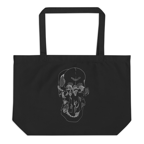 Exploded Skull Large Organic Tote Bag