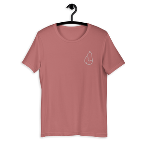 Pear Embroidered Unisex T-Shirt