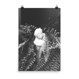 Angel in Leaves Matte Print