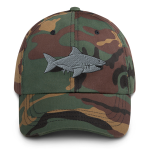 Great White Shark Embroidered Dad Hat