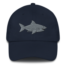 Load image into Gallery viewer, Great White Shark Embroidered Dad Hat